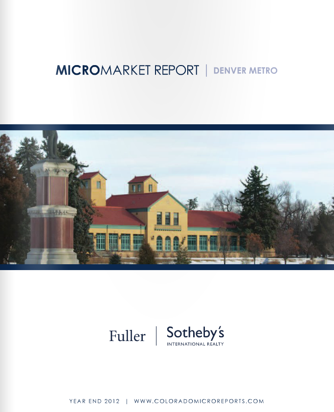 Denver Shooting Market: Why You Should Read Sotheby's 2012 Year-End Micro-Market