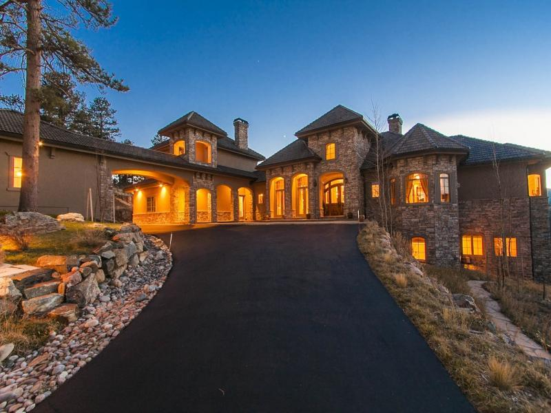 ring in the new year with an opulent mountain home