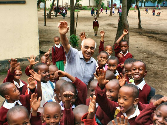 Students of Uhuru Primary School in Africa