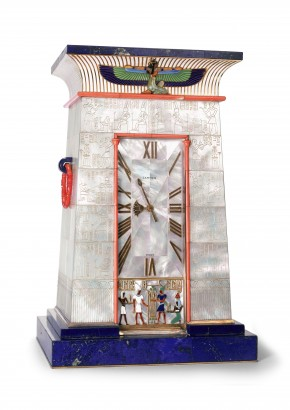 Egyptian striking clock owned by Mrs  George Blumenthal (c) Cartier