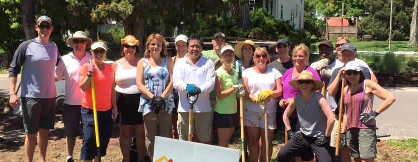 LIV Sotheby's International Realty brokers and staff at Extreme Community Makeover Event.