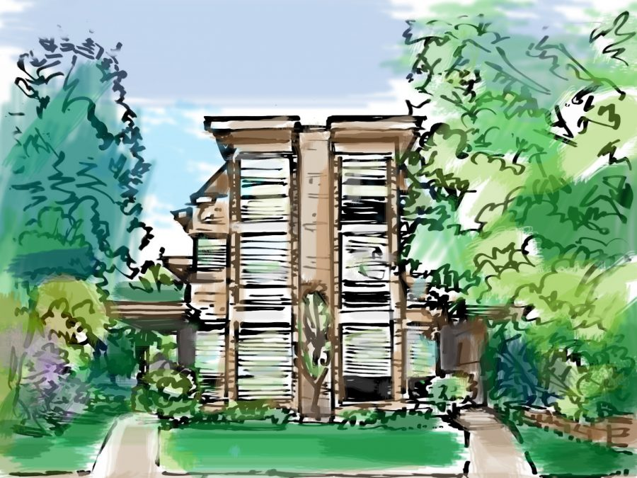 Pictured: Cook Street Townhomes to be transformed by Denver Designer Show House. Rendering by Jeffrey Keiths.