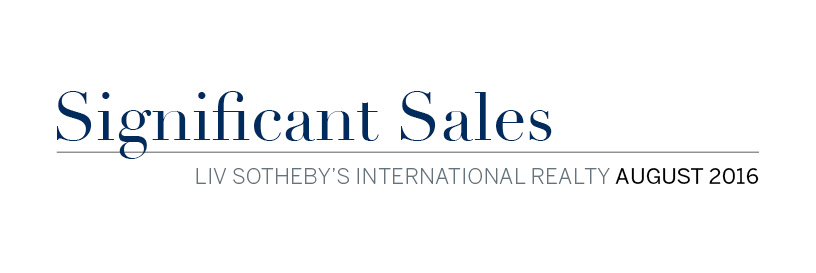 August 2016 Significant Sales