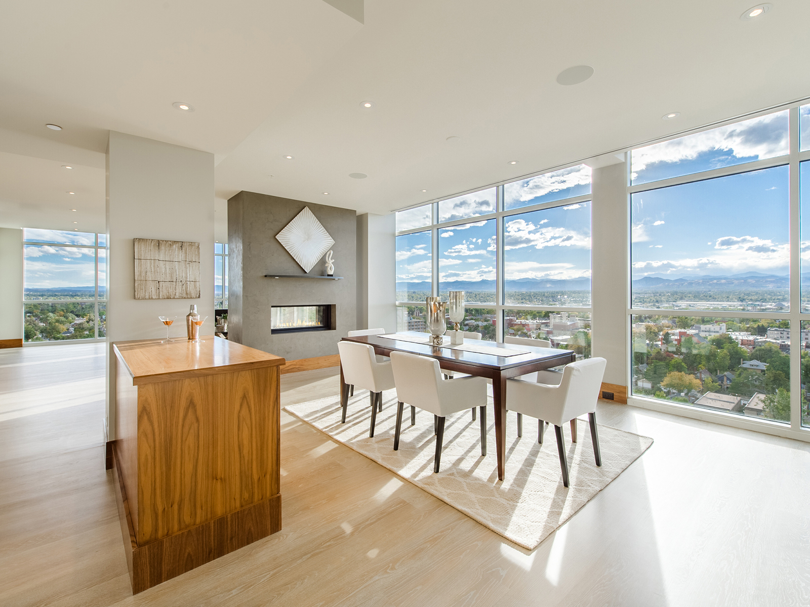 Liv sir lists contemporary penthouse in the heart of Floor to ceiling windows for sale